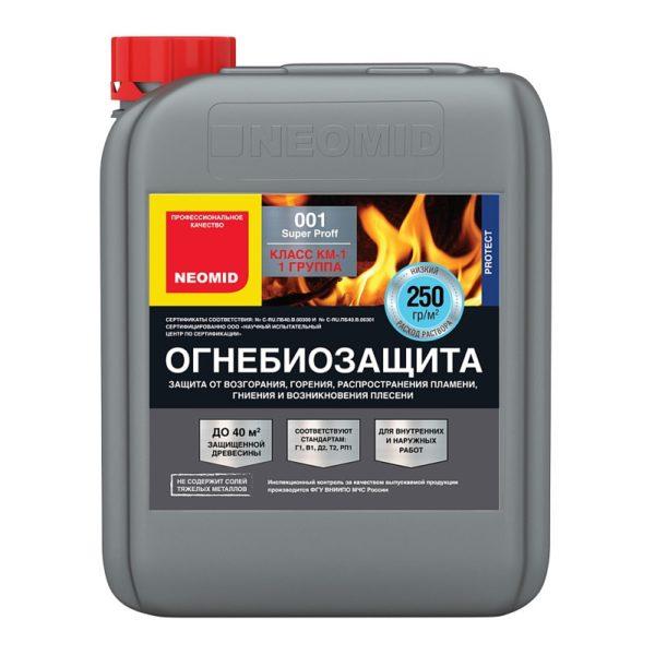 NEOMID 001 огнезащита для дерева