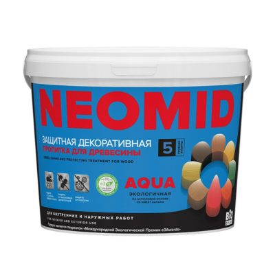 NEOMID Bio Color AQUA пропитка для дерева декоративная