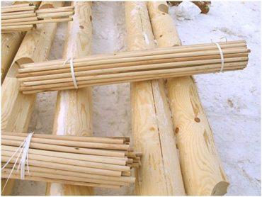 Деревянные нагеля березовые – обработанные пропиткой для дерева Неомид 440
