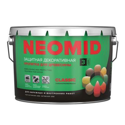 NEOMID Bio Color CLASSIC пропитка для дерева декоративная