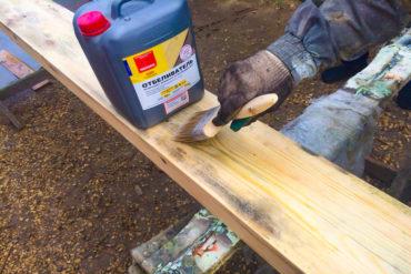 Борьба с грибами на древесине с помощью пропитки Неомид 500